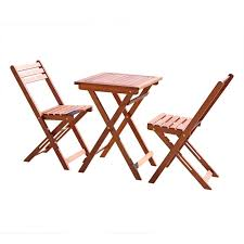 Folding Bistro Chairs Vifah V1381 Outdoor Wood Folding Bistro Set With