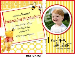 winnie the pooh birthday party invitations cloveranddot com