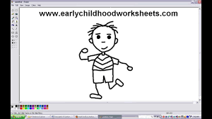 how to draw people boy easy step by step for kindergarten kids