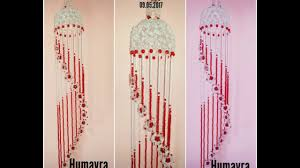 Pink Hanging Door Beads by How To Make Beaded Wind Chime Doorbell Wall Hanging Design 4