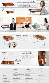 Best Buy Laptop Desk by Amazon Com Avantree Adjustable Laptop Bed Table Large Size