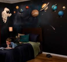 outer space wall art bedroom decor galaxy wallpaper for ceiling galaxy themed room decor boys bedroom outer theme wall decals for nursery projector design glubdubs pictures