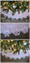 diy no sew christmas tree skirt with felt snowflakes adventures