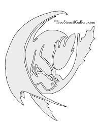 train dragon toothless stencil free stencil gallery