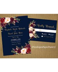 navy blue wedding invitations great deals on navy fall wedding invitation navy blue