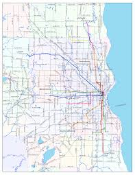 Maps Chicago Google by Chicago L Overlaid Onto Milwuakee Skyscrapercity