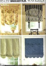 butterick 5159 waverly window shade pattern window treatments