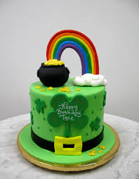st patrick u0027s day cake a rainbow and a pot of gold all cakes