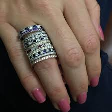 stackable wedding bands how to wear stackable rings