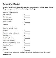 sample event budget event planning budget template excel best