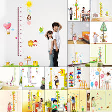 new diy decor pvc wall sticker removable kid cute animal height image is loading new diy decor pvc wall sticker removable kid