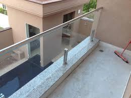 New Guarda-corpo de aço inox e vidro temperado #100571 | Alfa Corrimão #UM34
