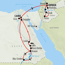 Pyramids In America Map by Egypt U0026 Jordan Private Tour In 15 Days On The Go Tours