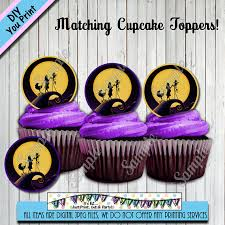 nightmare before christmas cupcake toppers nightmare before christmas baby shower invitation thank you