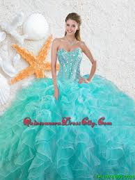 quinceanera dresses 2016 beading sweetheart quinceanera dresses in aqua blue