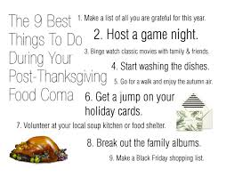 the 9 best things to do during your post thanksgiving food coma