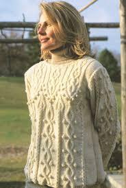 knotwork arrowhead cable sweater aran knitting