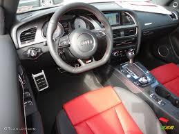 audi convertible interior black magma red interior 2013 audi s5 3 0 tfsi quattro convertible