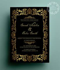 great gatsby wedding invitations gold wedding invitation great gatsby wedding invitation