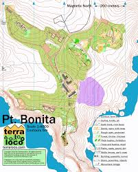 Point Lobos State Reserve Map by Get Lost Running Racing