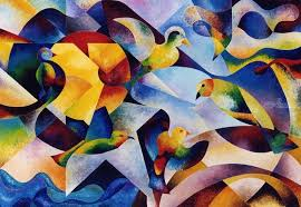 cubism flower painting paintings by beatrice bedeur cubism animals architecture