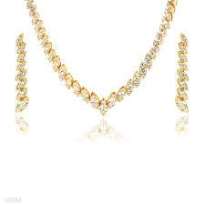 gold set in pakistan buy classic shimmer gold zircon necklace set online in pakistan