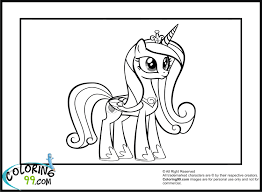 princess cadence coloring pages my little pony friendship is magic