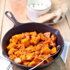 cuisiner le potiron recette poêlée de potiron à la tomate