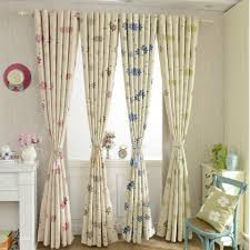 latest version luxury modern curtain floral shade blackout for