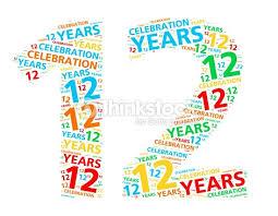 12 ans de mariage coloré mot nuage pour 12 ans anniversaire ou un anniversaire de