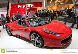 chrome ferrari 458 spider ferrari 458 italia spider editorial stock photo image of power
