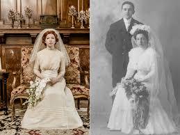 bride wears great grandmother u0027s 1910 wedding dress in special
