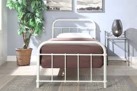 henley white metal hospital dorm style bed frame single double