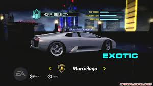 Lamborghini Murcielago Top Speed - official unofficial need for speed carbon car list 56k nuclear