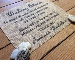wishing rocks for wedding blessing stones sign wedding burlap decor
