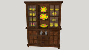 how to arrange dishes in china cabinet china cabinet with dishes 3d warehouse