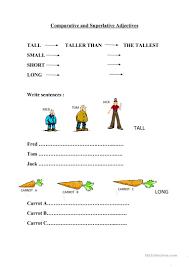 comparative and superlative adjectives worksheet worksheet free