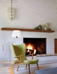 white brick fireplace with wooden mantle decordigs pinterest