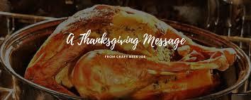a thanksgiving message from craft joe craft joe