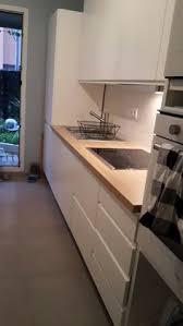 projet cuisine ikea projet cuisine ikea avec verrière laxarby et plan de travail noyer