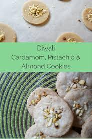diwali cardamom pistachio and almond cookie