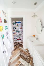 Diy Bathroom Makeovers - our 1800 kids diy bathroom reveal the heathered nest