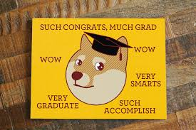 Doge Meme Gifts - funny graduation card much grad funny congratulations card