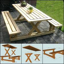 folding picnic table bench plans pdf folding picnic table bench do it yourself tutorial and combo plans
