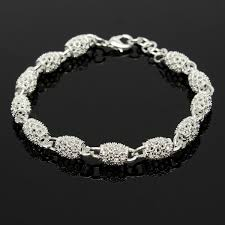 sterling silver beaded charm bracelet images 925 sterling silver plated beads charm chain bracelets for women JPG