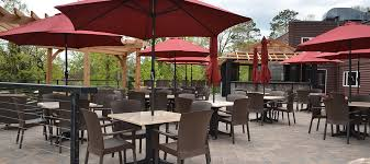 Patio Bar With Umbrella On The Rocks New Outdoor Dining Venue At Grand View Lodge