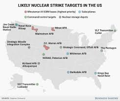 Map Of Montana Cities And Towns by Areas In Us Most Likely To Be Struck In A Nuclear Attack By Russia