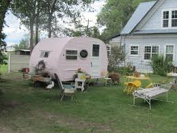 Backyard Cottage by Darling Little Camper Turned Into Guest Cottage And Backyard