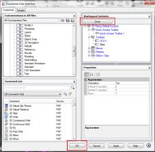 setting up toolbars in workspaces for autocad plant 3d by ryan