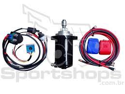 kit partida elétrica para motor de popa yamaha 25 hp modelo novo